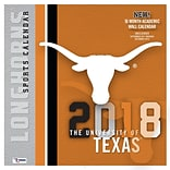 Texas Longhorns 2018 12X12 Team Wall Calendar (18998011821)