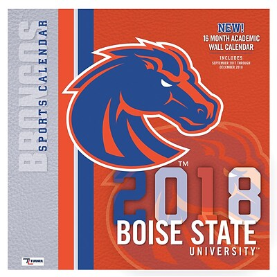 Boise State Broncos 2018 12X12 Team Wall Calendar (18998012073