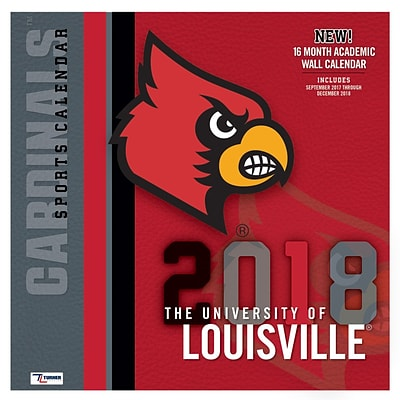 Louisville Cardinals 2018 12X12 Team Wall Calendar (18998011804)