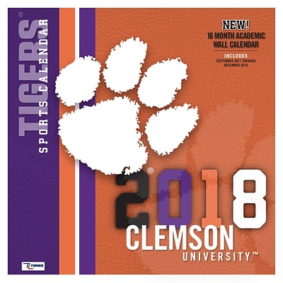 Clemson Tigers 2018 Mini Wall Calendar (18998040602)