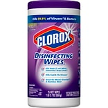 Clorox Disinfecting Wipes, Bleach Free Cleaning Wipes, Fresh Lavender - 75 Wipes (01761)