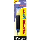 Pilot Precise V7 RT Rolling Ball Pen Refills, Fine Point (0.7mm), Blue, 2/Pk (77279)