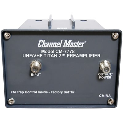 Channel Master Cm-7778 Titan 2 Preamp (medium Gain)