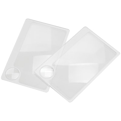 Carson Wm-01 Credit Card-size Magnifier With 6x Spot Lens, 2 Pk