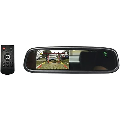 Boyo Vtm43tc 4.3 Oe-style Rearview Mirror Monitor with Temperature & Compass