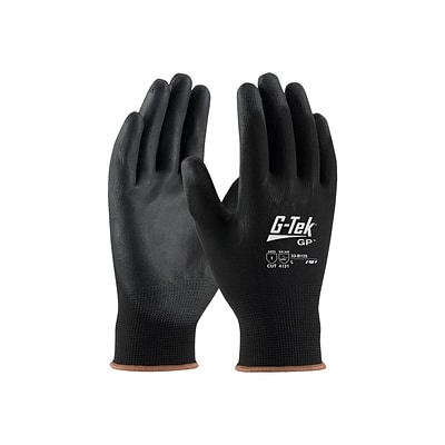 G-Tek GP Nylon/Polyurethane Gloves, Black, Dozen (33-B125/XL)