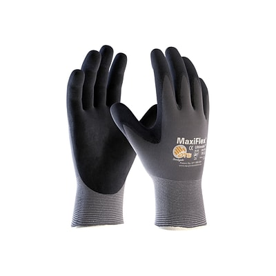 MaxiFlex Ultimate Nitrile Gloves, Gray/Black, Dozen (34-874/M)
