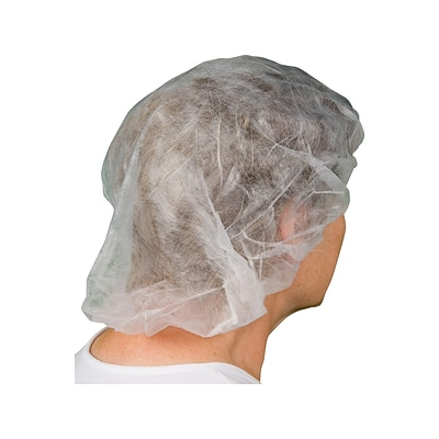 Ambitex BC Series Polypropylene Hair Nets, White, 1000/Carton (BC21/1000)