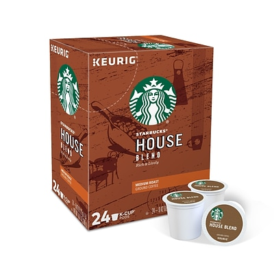 Starbucks House Blend Coffee, Keurig® K-Cup® Pods, Medium Roast, 24/Box (736087)