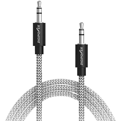 Digipower Sp-afx Tangle-free Braided Auxiliary Cable, 3ft