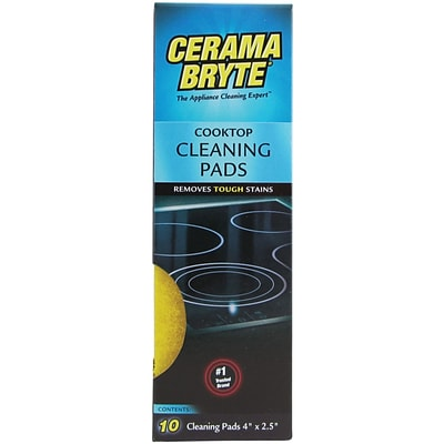 Cerama Bryte 29106 Ceramic Cooktop Cleaning Pads, 10 Pk