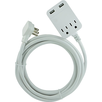 General Electric 32089 Sub Extension Cord With Surge Protection, 12ft