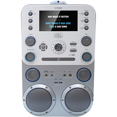 The Singing Machine Stvg888 Cd+g/mp3/cd/mp3+g Karaoke Player With Bluetooth & 7 Monitor