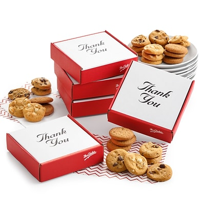 Mrs. Fields® Original Cookies Thank You Box with Nibblers, 12/Carton (ST11021)