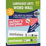 Carson-Dellosa Learning Cards Language Arts Word Wall, Grade 1, 60 Cards/Set (145115)