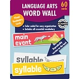 Carson-Dellosa Learning Cards Language Arts Word Wall, Kindergarten, 60 Cards/Set (145114)
