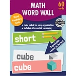 Carson-Dellosa Learning Cards Math Word Wall, Kindergarten, 60 cards/Set (145111)