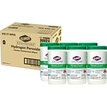 Clorox Healthcare Hydrogen Peroxide Cleaner Disinfectant Wipes, 95 Count Canister, 6 Canisters/Case