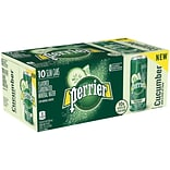 Perrier Cucumber Lime Flavored Carbonated Mineral Water, 8.45 fl oz. Slim Cans, 10/Pack (12394637)