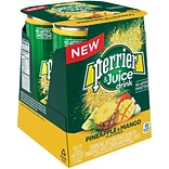 Perrier & Juice, Pineapple and Mango Flavor, 8.45 fl oz. Cans, 4/Pack (12397131)