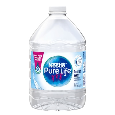 Nestle Pure Life Purified Water, 3 L Plastic Bottle, 6/Pack (12386172)