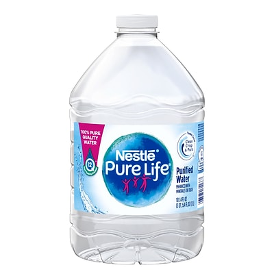 Nestle Pure Life Purified Water, 101.4 Fl oz. Plastic Bottled Water, 6/Pack (12386172)