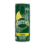 Perrier Lemon Flavored Carbonated Mineral Water, 8.45 fl oz. Slim Cans, 10/Pack (12394701)