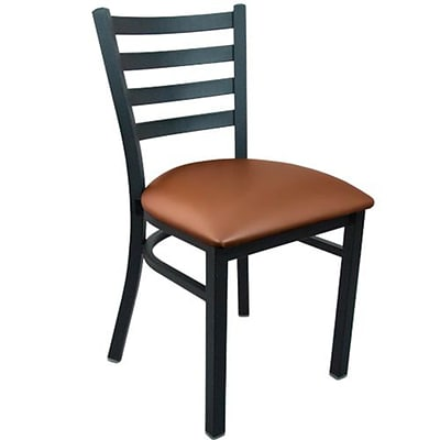 Advantage Ladder Back Restaurant Chair With Mocha Vinyl Seat, 28 Pack (RCLB-BFMV-28)