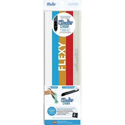 3Doodler Create FLEXY Plastic Pack, Raise the Flag, 25/Pack (FLX-MIX2)