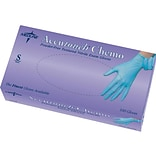 Accutouch Chemo Powder Free Blue Nitrile Gloves, Small, 100/Box (MDS192084H)