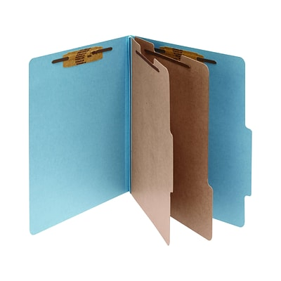 ACCO Classification Folder, 2-Dividers, 3 Expansion, Legal Size, Sky Blue, 10/Box (16026)