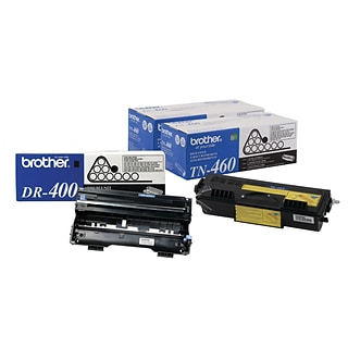 Brother Original DR400 Drum Unit and 2-Pack TN460 Black High Yield Laser Toner Cartridge