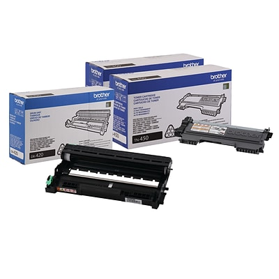 Brother Original DR420  Drum Unit and 2-Pack TN450 Black High Yield Laser Toner Cartridge