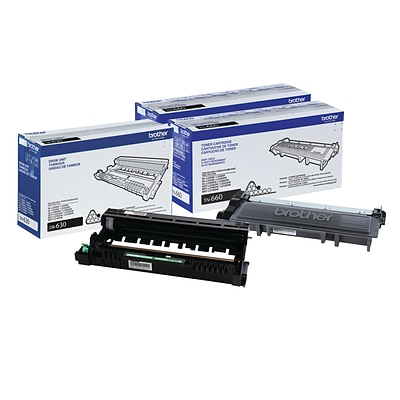 Brother Original DR620  Drum Unit and 2-Pack TN650 Black High Yield Laser Toner Cartridge