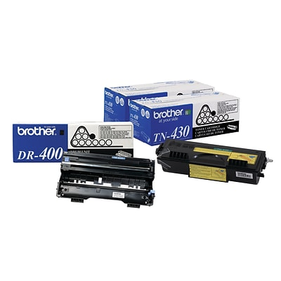Brother Original DR400 Drum Unit and 2-Pack TN430 Black Standard Yield Laser Toner Cartridge