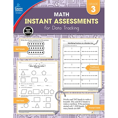 Instant Assessments for Data Tracking, Grade 3 Paperback (104937)