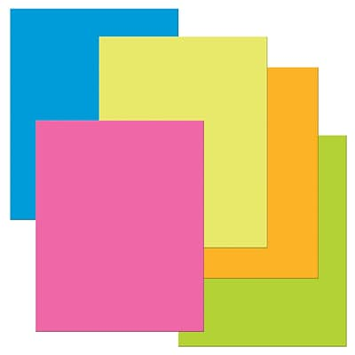 Pacon® The Heavy Poster Board, 22 x 28, Assorted Neon Colors, 25 Sheets (PAC53051)