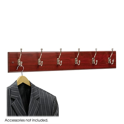 Safco Wall Rack, Mahogany, Wood (4217MH)