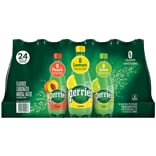 Perrier Carbonated Mineral Water, Assorted Flavors 16.9-Ounce Plastic Bottles, 24/Pack (12411241)