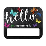 Schoolgirl Style Woodland Whimsy Hello Name Tags, 40/Pack (150070)
