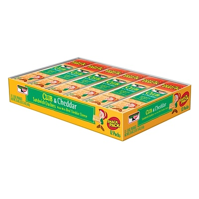 Keebler Club & Cheddar Crackers, 1.8 oz., 12/Pack (21161)