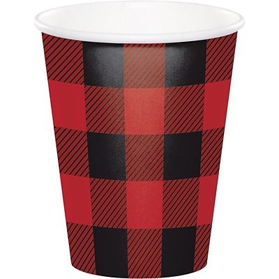 Creative Converting Buffalo Plaid Cups 8 pk (321827)