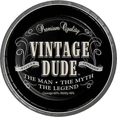 Creative Converting Vintage Dude Paper Plates 8 pk (425567)