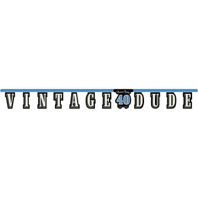 Creative Converting Vintage Dude 40th Birthday Banner  (299467)