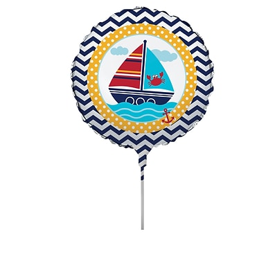 Creative Converting Ahoy Matey Nautical Balloon Centerpiece Kit  (049586)