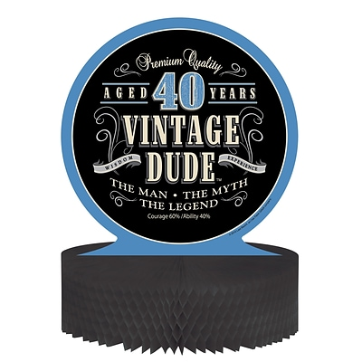 Creative Converting Vintage Dude 40th Birthday Centerpiece  (264067)