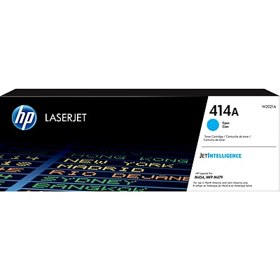 HP 414A Cyan Toner Cartridge, Standard Yield (W2021A)