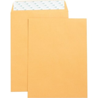 Quill Brand® Easy Close Catalog Envelope, 9 x 12,Brown Kraft, 250/Box (PS91228B)