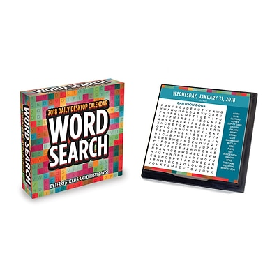 Tf Publishing 2018 Word Search Daily Desktop Calendar (18-3211)