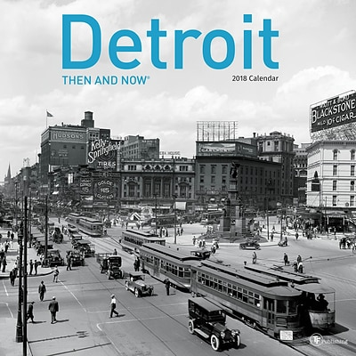 TF Publishing 2018 Detroit, Then And Now Wall Calendar (18-1307)